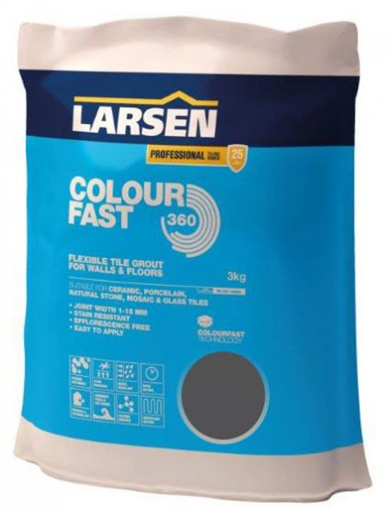 Colour Fast 360 Flexible Wall & Floor Grout Anthracite 3kg