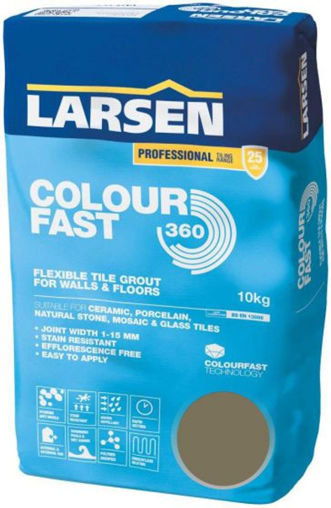 Colour Fast 360 Flexible Wall & Floor Grout Taupe 10kg