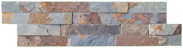 Split face multi colour natural slate tile