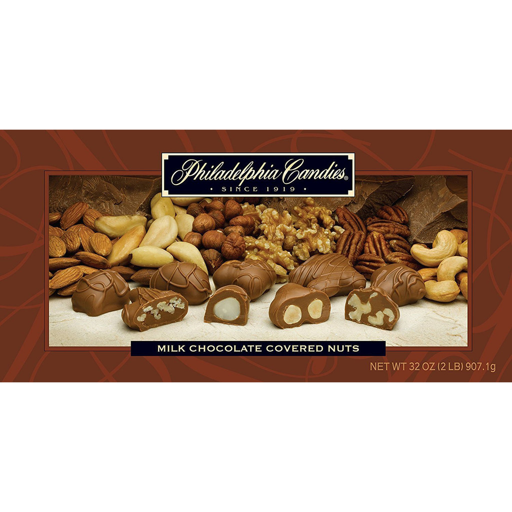 Milk Chocolate Covered Assorted Nuts, 2 Pound