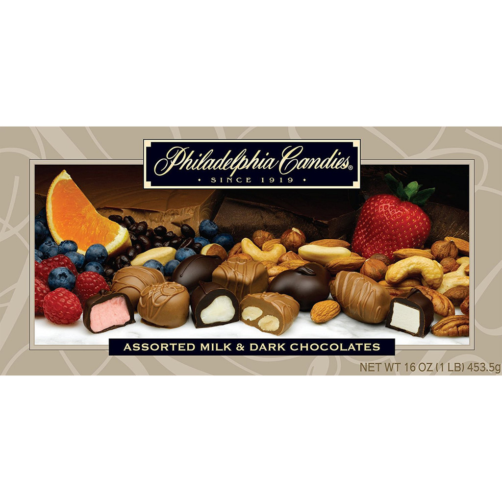 Assorted Milk & Dark Chocolates, 1 Pound
