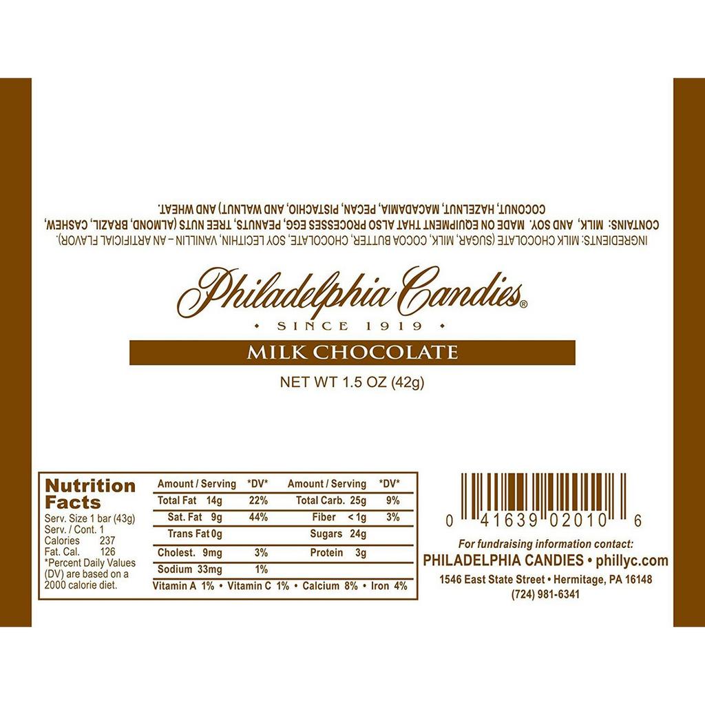 30.5% Cocoa Milk Chocolate Bar, 1.5 Ounce