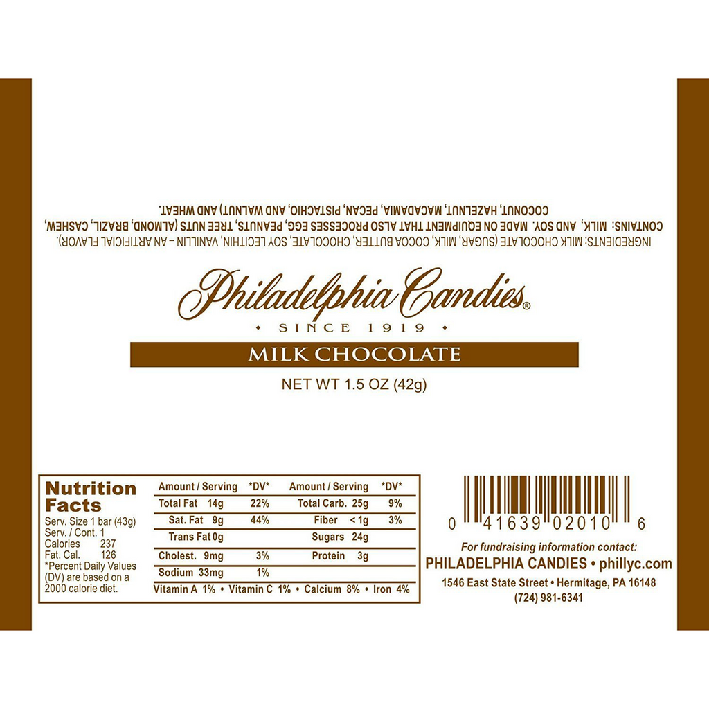 30.5% Cocoa Milk Chocolate Bar, 1.5 Ounce