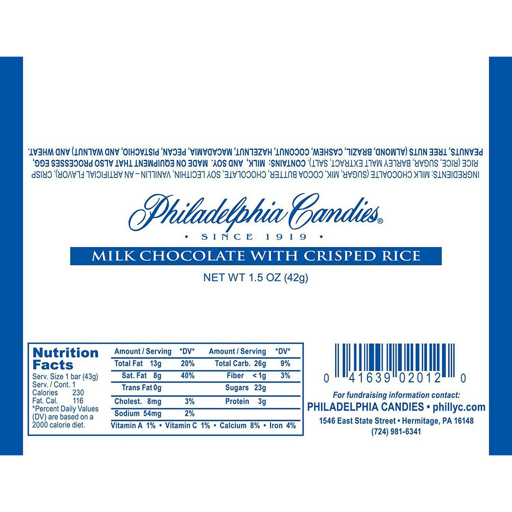 30.5% Cocoa Milk Chocolate with Crisped Rice Bar, 1.5 Ounce