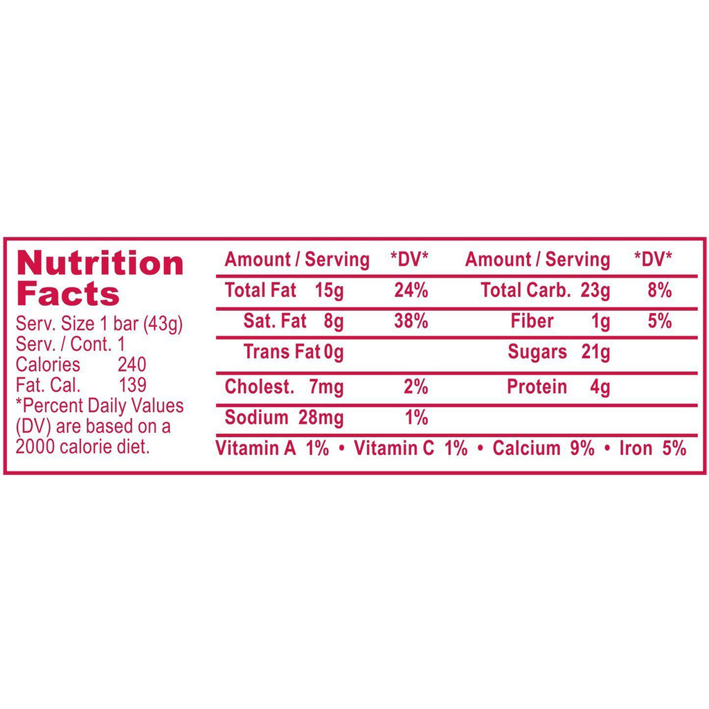 30.5% Cocoa Milk Chocolate with Almonds Bar, 1.5 Ounce