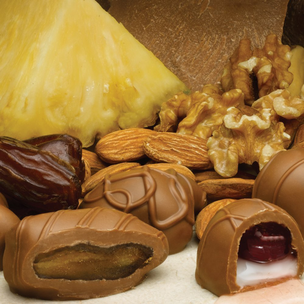 Assorted Fruits and Nuts, Milk Chocolate