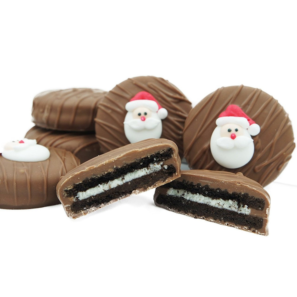 Santa Face Crème Filled Sandwich Cookies, Milk Chocolate