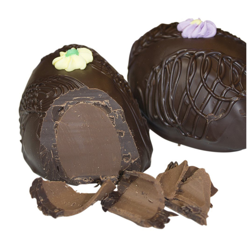 French Mint Meltaway Egg, Dark Chocolate