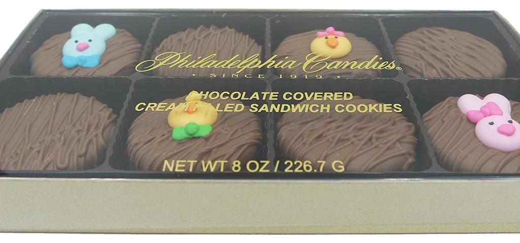 Easter Faces Assortment Crème Filled Sandwich Cookies, Milk Chocolate (Blue Rabbit, Pink Rabbit, Chick, Chicklet)