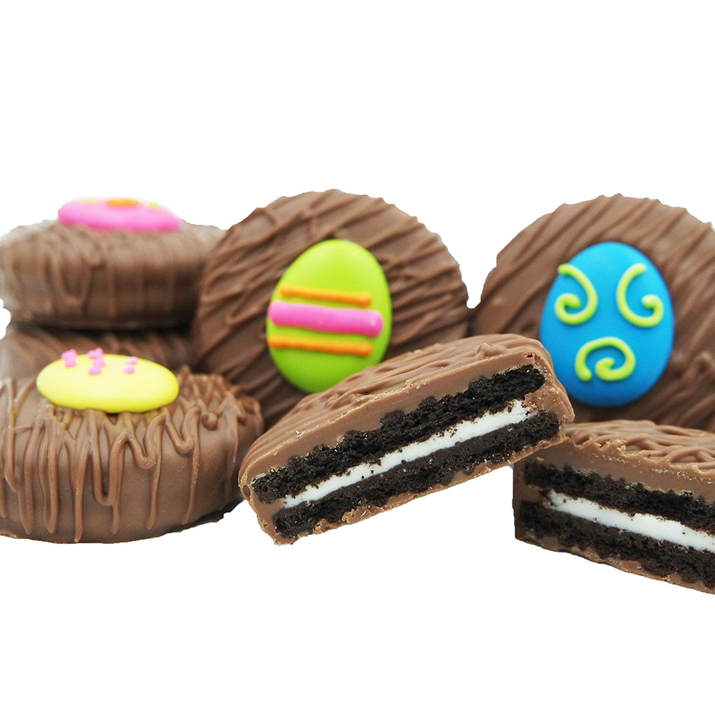Easter Egg Assortment Crème Filled Sandwich Cookies, Milk Chocolate (Blue, Green, Pink, Yellow)