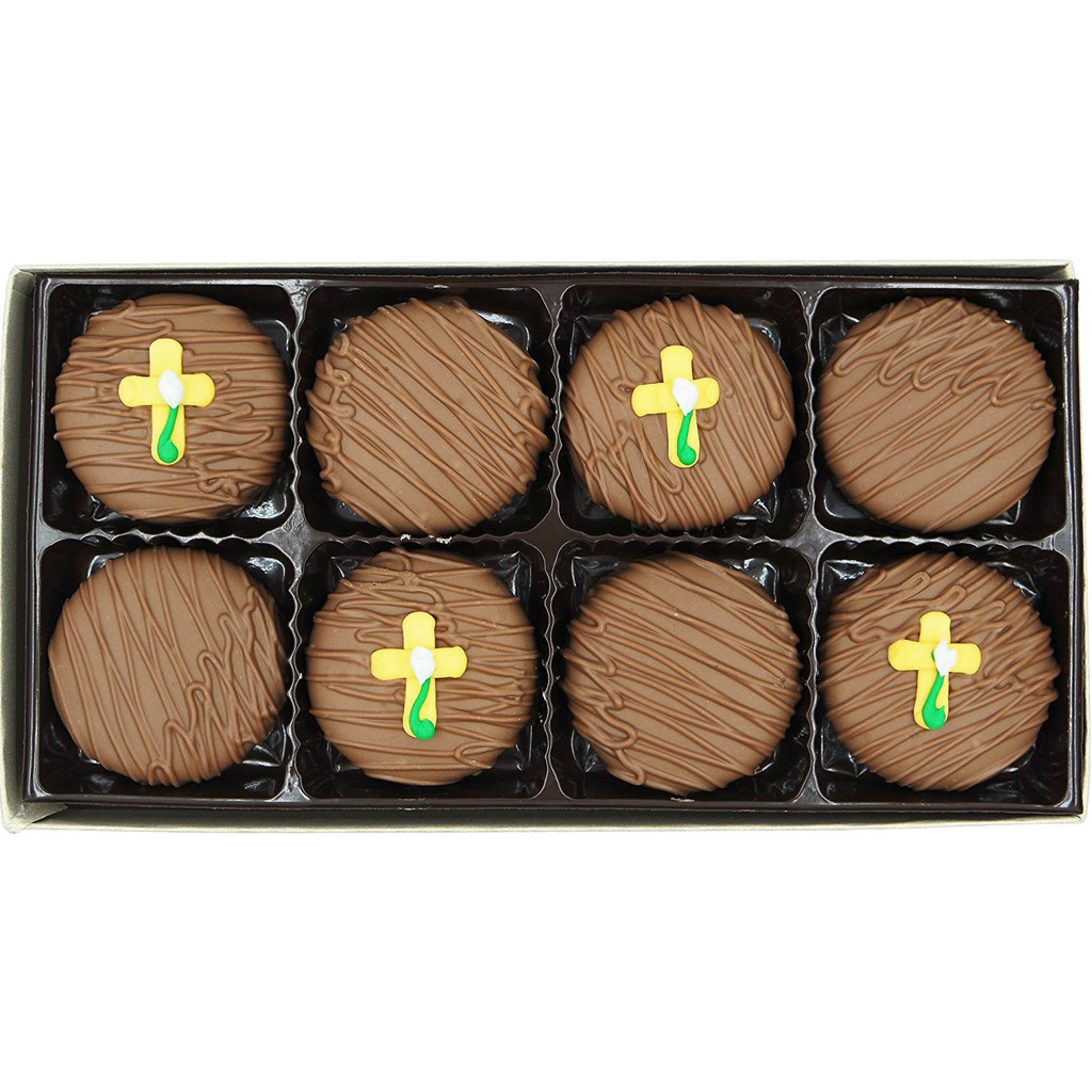 Easter Cross Crème Filled Sandwich Cookies, Milk Chocolate