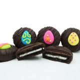 Easter Egg Assortment Crème Filled Sandwich Cookies, Dark Chocolate (Blue, Green, Pink, Yellow)