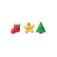 Christmas Greeting Crème Filled Sandwich Cookies, Milk Chocolate