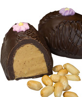 Peanut Butter Meltaway Egg, Dark Chocolate