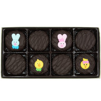 Easter Faces Assortment Crème Filled Sandwich Cookies, Dark Chocolate (Blue Rabbit, Pink Rabbit, Chick, Chicklet)