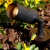 Cast Brass Side Arm Spotlight PSDX613 (in scene) Shown In Black