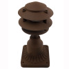 LED 3 Tier Pagoda Post Light LED-PPC350 in Rust with PP13 Base