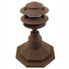 LED 3 Tier Pagoda Post Light LED-PPC350 in Rust with PP12 Base