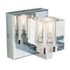 1 Light Chrome Crystal Halogen Bath Sconce 2841PC