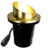 12V Composite LED In Ground Well Light w/ Brass Angle Shield - N.S.C. - LEDGC3B-AS-NSC