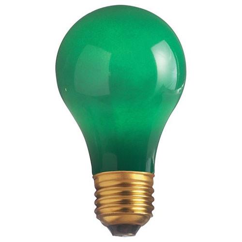 120V 25w Ceramic Green A19 Light Bulb