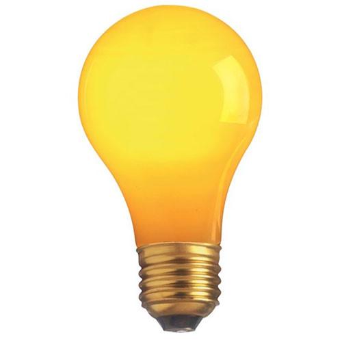 130V 25w Ceramic Yellow A19 Light Bulb