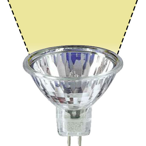 12V 20w Clear Halogen MR16 BAB AQL Flood Light Bulb - 20W-MR16-12V-F-AQL