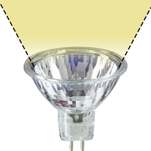 12V 20w Clear Halogen MR16 BABSW SureColor Wide Flood Light Bulb - 20W-MR16-12V-WF-SC