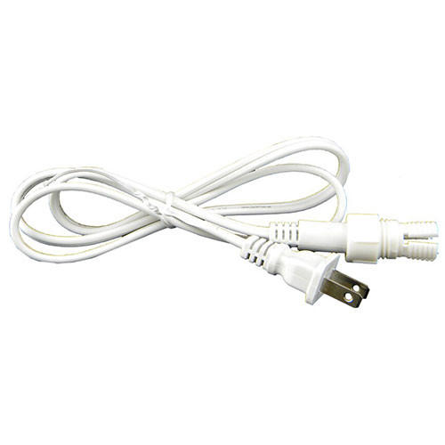 """3/8"""" 2 Wire Rope Light Power Cord with Power Connector"""