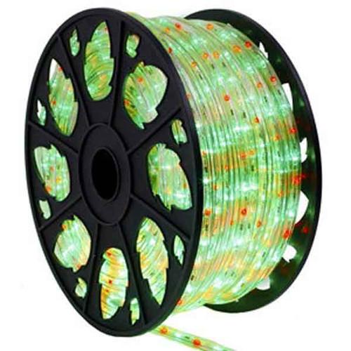 Red & Green LED Bi-Color Rope Light Spool
