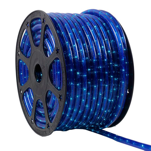 12V 2 Wire Incandescent Blue Rope Light - 150 Ft