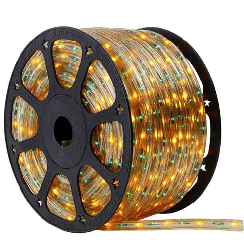 150 Ft 3 Wire Green and Yellow Bi-Color Incandescent Rope Light Kit - 120V IP65 Waterproof - GK150-BIKIT-GREENYELLOW