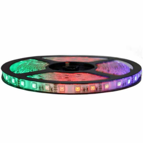 Over Kitchen Sink RGB LED Tape Light - 12V & 16Ft - High Output SMD5050-60 - Waterproof - LEDAQT-55-60-RGB