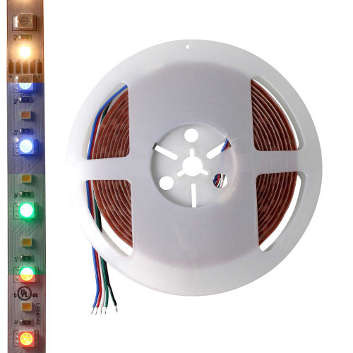 24V Color Changing Tunable Dimmable RGBW LED Tape Light - 16.4' Spool - AQOL-5628-FP-96-24-RGBW