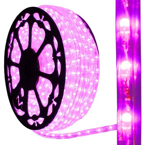 150ft Reel - 120V Dimmable LED IP65 Waterproof Pink Type 513 Rope Light - AK-LED-513-PINK
