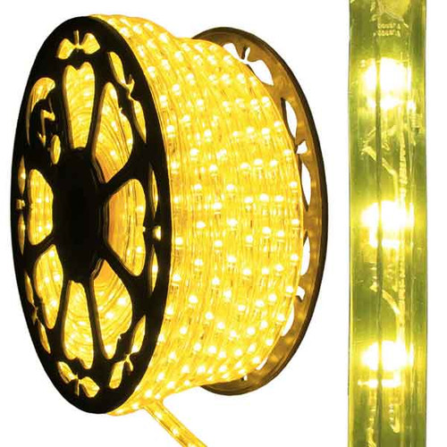 150ft Reel - 120V Dimmable LED IP65 Waterproof Yellow Type 513 Rope Light - AK-LED-513-YELLOW