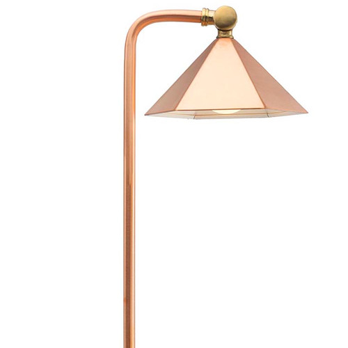 Raw Copper Hex Shade Pathway Light