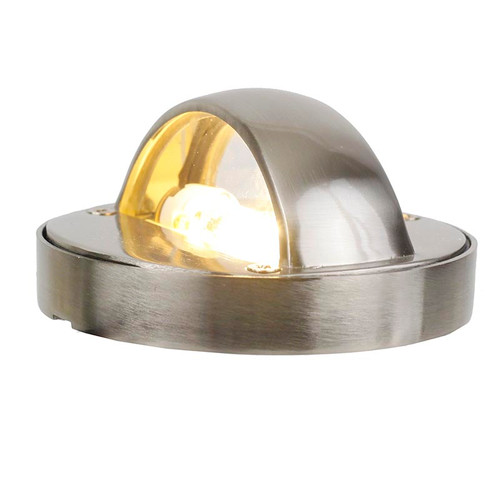 LED Cast Brass Bi-Directional Step Light DDLED4 (shown in brushed nickel)