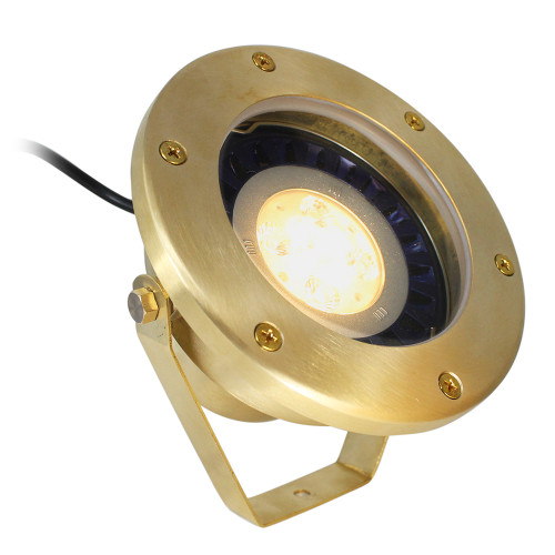12V LED Raw Brass Open Face Outdoor LED Flood Lights w/ NSC - LEDS-L-003
