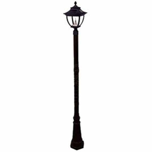 Pagoda Solar Lamp Post GS-104S in black