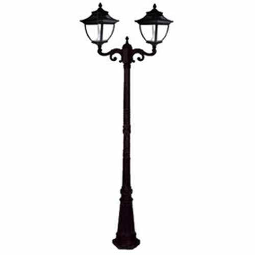 Pagoda Solar Lamp Post GS-104D in black