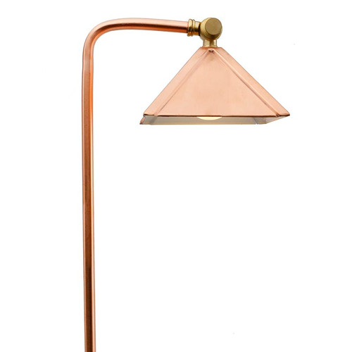LED Raw Copper Pyramid Pathway Area Light LED-PPG028C