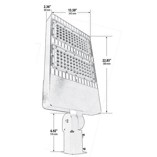 Dual Panel Post Top Area Outdoor LED Flood Light | AQLighting