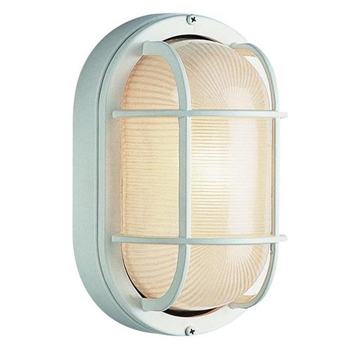 1 Light Outdoor Bulkhead White