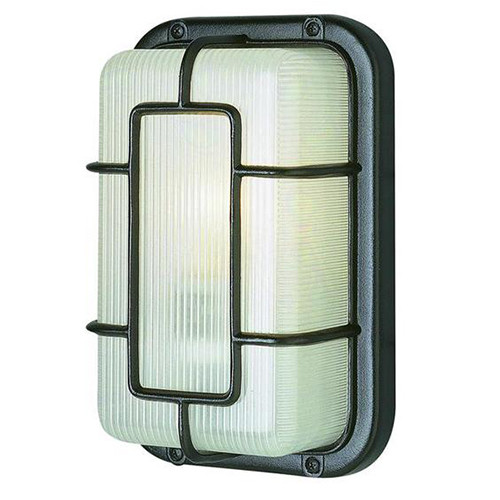 1 Light Outdoor Bulkhead 41101BK Black
