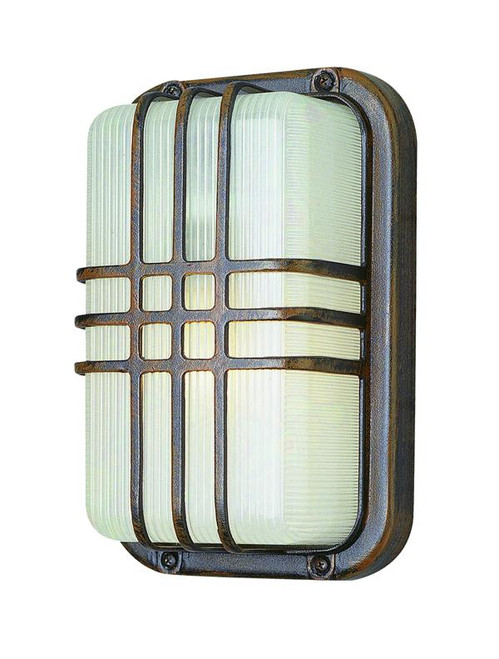 1 Light Outdoor Bulkhead 41104RT Rust