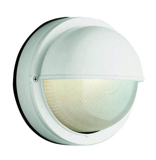 1 Light Outdoor Bulkhead 4121WH White