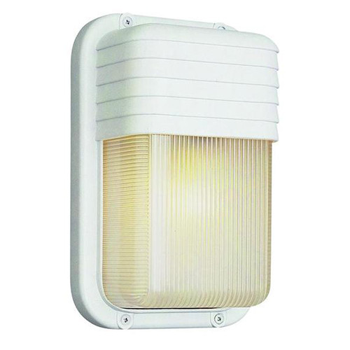 1 Light Outdoor Bulkhead 41105WH White