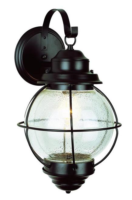 1 Light Outdoor Onion Wall 69904BK Black
