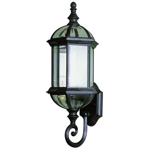 1 Light Outdoor Wall Mount 4180BK Black